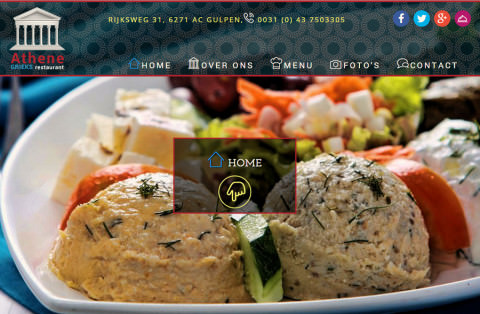 foto van website Grieks restaurant Athene in Gulpen Limburg